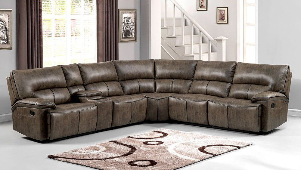 AC Pacific Donovan 6 Piece Sectional Sofa Set
