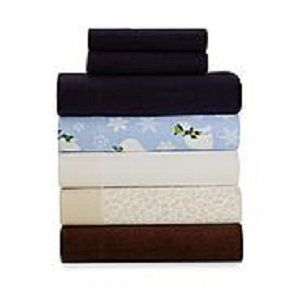Cannon King Size Fleece Sheet Set/4 Piece Set Navy
