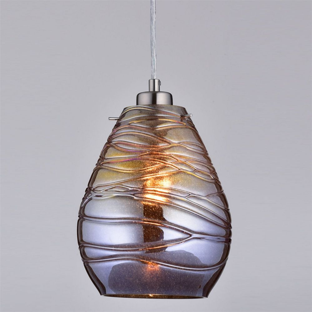Claxy Ecopower Kitchen Antique Mercury Glass Pendant Lighting Fixture
