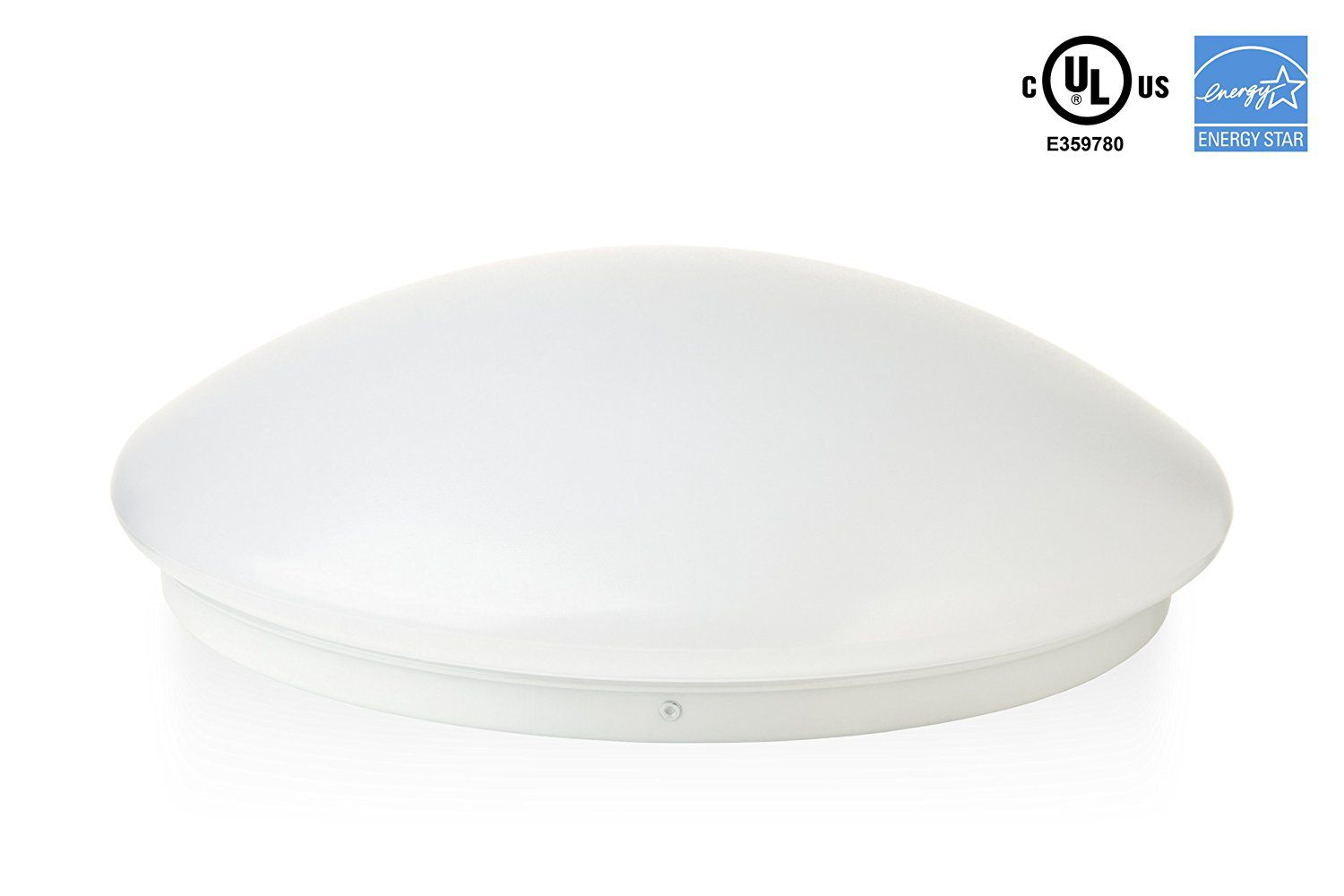 """Hyperikon LED Flush Mount Ceiling Light, 16"""", 35W (150W equivalent), 3100lm, 4000K (Daylight Glow), 120° Beam Angle, 120-240V, UL and ENERGY STAR Listed, 16-Inch Flush Mount, Instant-On"""