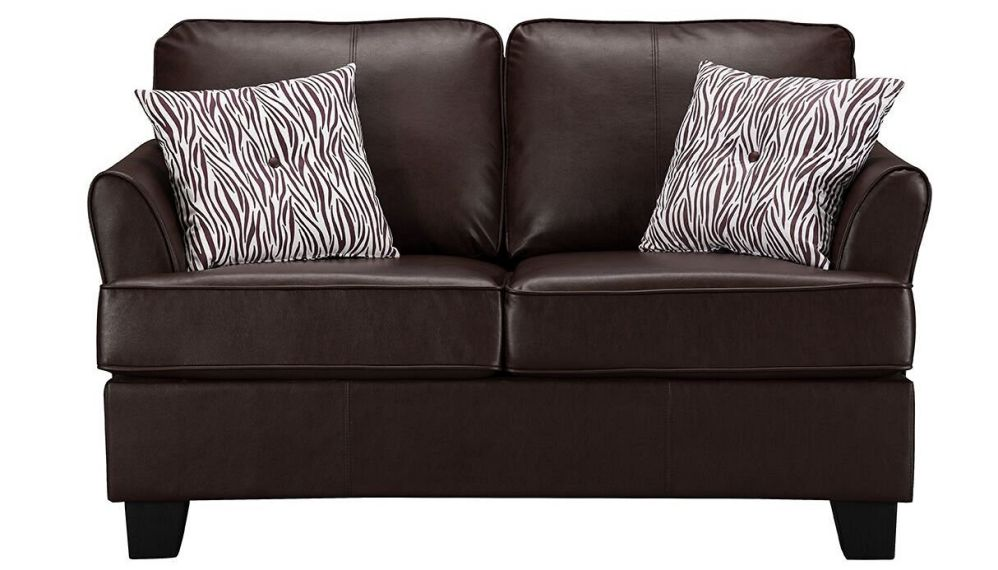 Kings Brand Furniture Faux Leather Sofa Hide a Bed Loveseat (Brown, Twin Size)