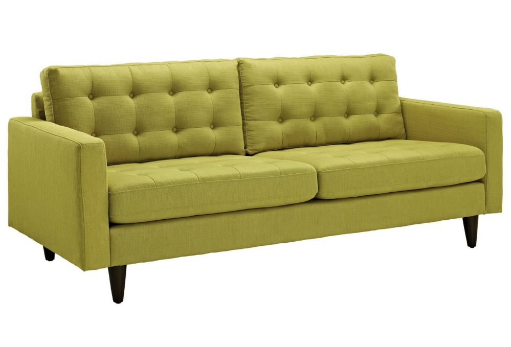 LexMod Empress Upholstered Sofa in Wheatgrass