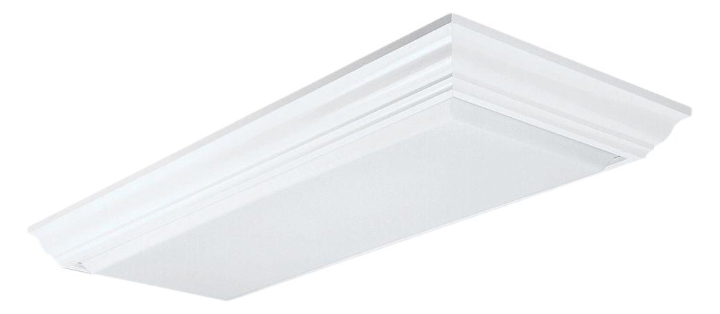 Lithonia Lighting 3776RE Cambridge Wood Fluorescent Ceiling Fixture, 1-1/2' x 4'