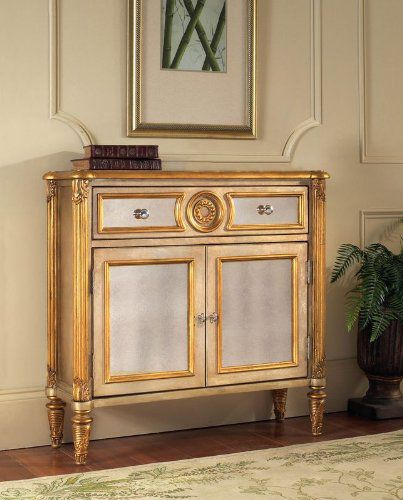 Pulaski Victoria Mirrored Hall Chest, 35 by 12 by 34-Inch, Metallic