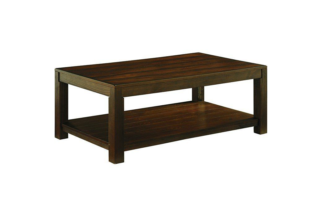 Signature Design by Ashley Grinlyn Rectangular Cocktail Table, Rustic Brown