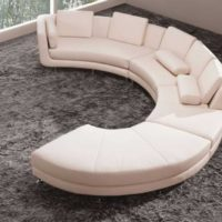 Vig Furniture A94 - White Leather Sectional Sofa Set
