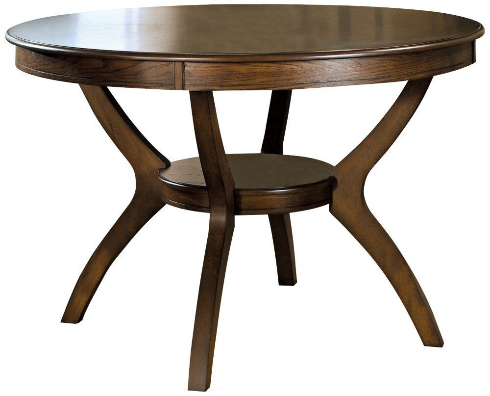 Coaster Dining Table, 48-Inch , Dark Walnut