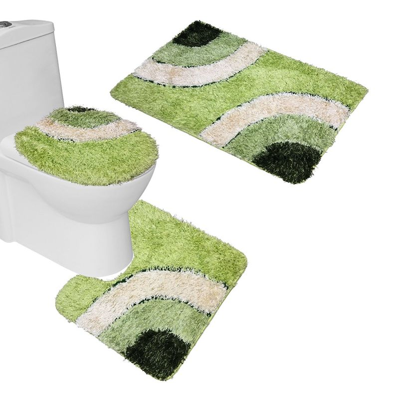 3 Piece Bathroom Mat Sets Advantage Homeindec