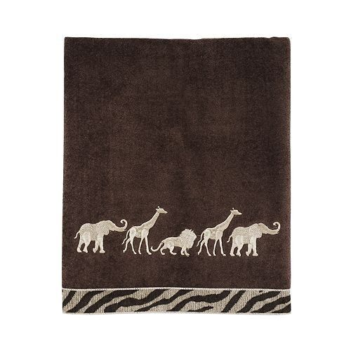 Avanti Animal Parade Bath Towel, Mocha