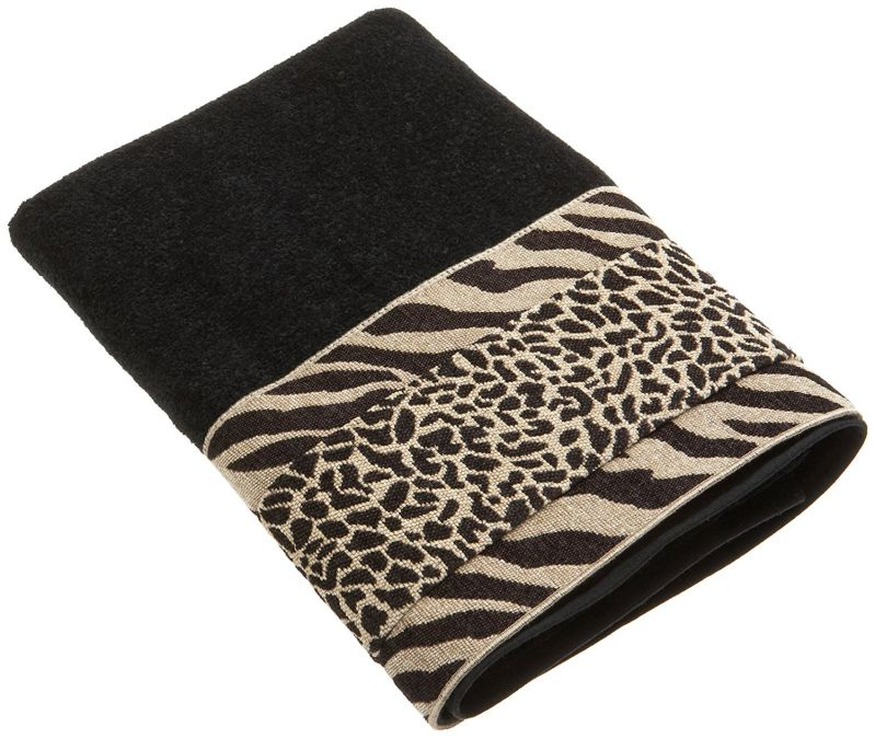 Avanti Linens Cheshire Bath Towel, Black