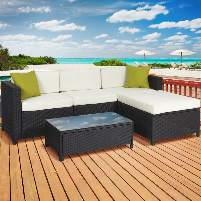 Best Choice Products 5PC Rattan Wicker Sofa Set