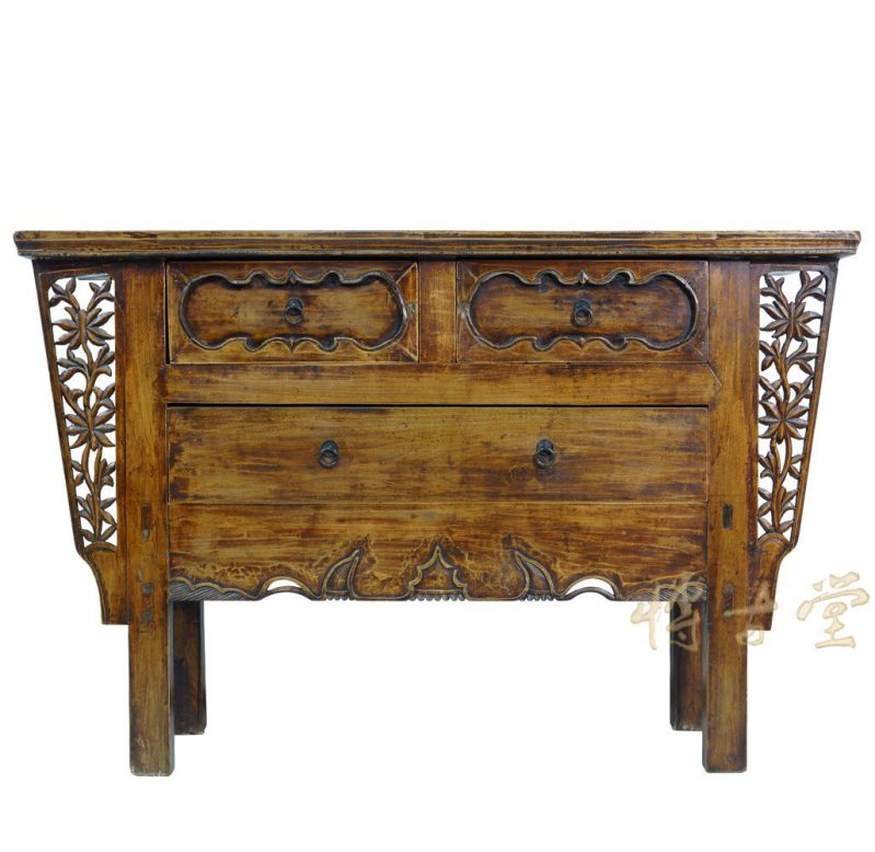 Chinese Antique Carved Shan Xi Console Table/Dresser 27T10