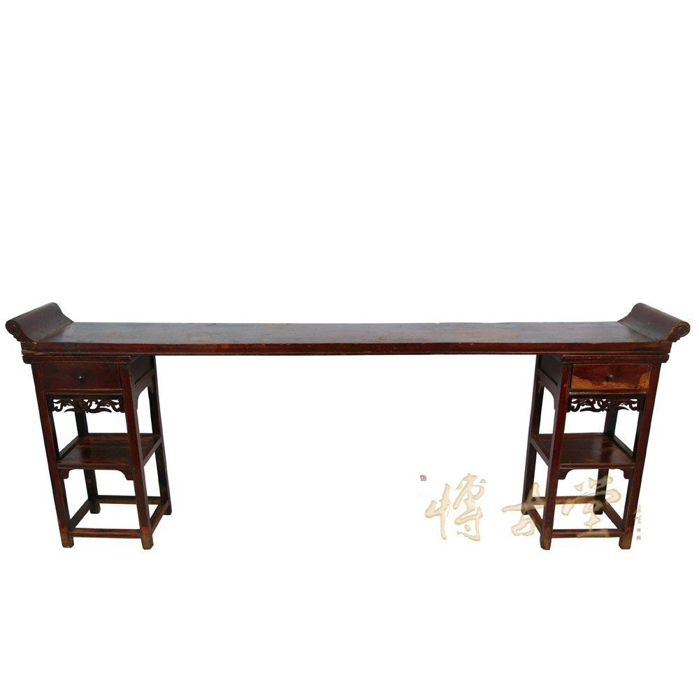 Antique chinese console table for oriental look chinese antique open carved altar tableconsole 26p09 geotapseo Gallery