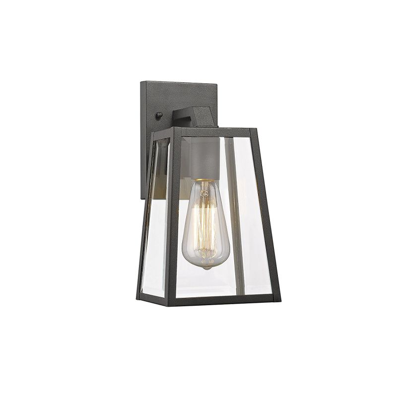 "Chloe Lighting CH822034BK11-OD1 Transitional 1 Light Black Outdoor Wall Sconce 11"" Height"
