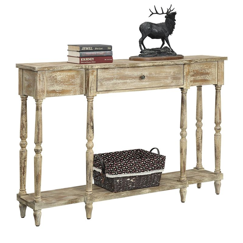 Convenience Concepts Wyoming Weathered Antique Console Table