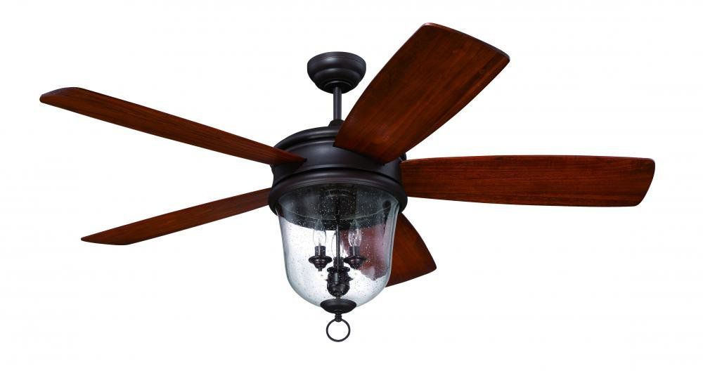 "Craftmade FB60OBG5, Fredericksburg Ceiling Fan w/ Light, 60"" Span, Oiled Bronze Gilded"