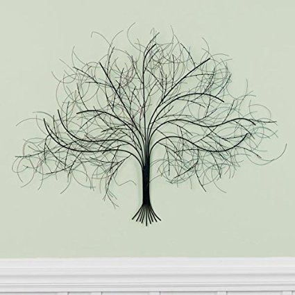 Exclusive Black Tree Wall Decor Sculpture - Handcrafted Metal Art