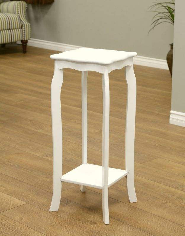 Frenchi Home Furnishing Plant Stand, Small, White