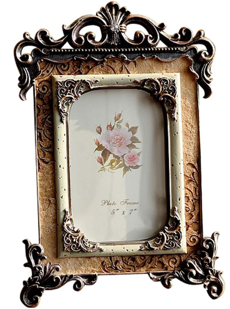 Gift Garden 5 by 7 -Inch Vintage Picture Frames European Retro Photo 5x7