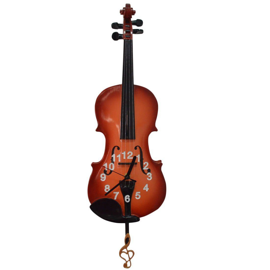 Giftgarden Violin Decor Wall Clocks Musical Gift for Home Decoration