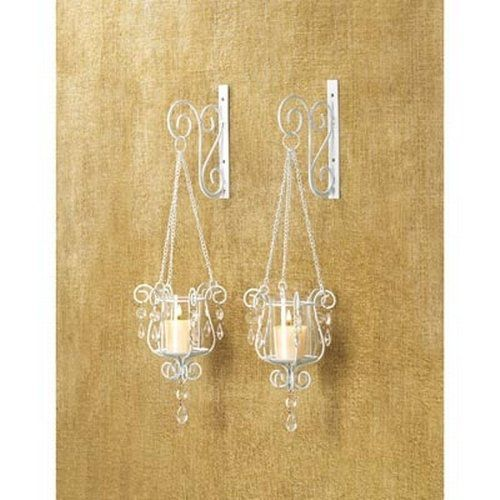 Gifts & Decor Bedazzling Pendant Candle Holder Wall Sconce Decor Pair