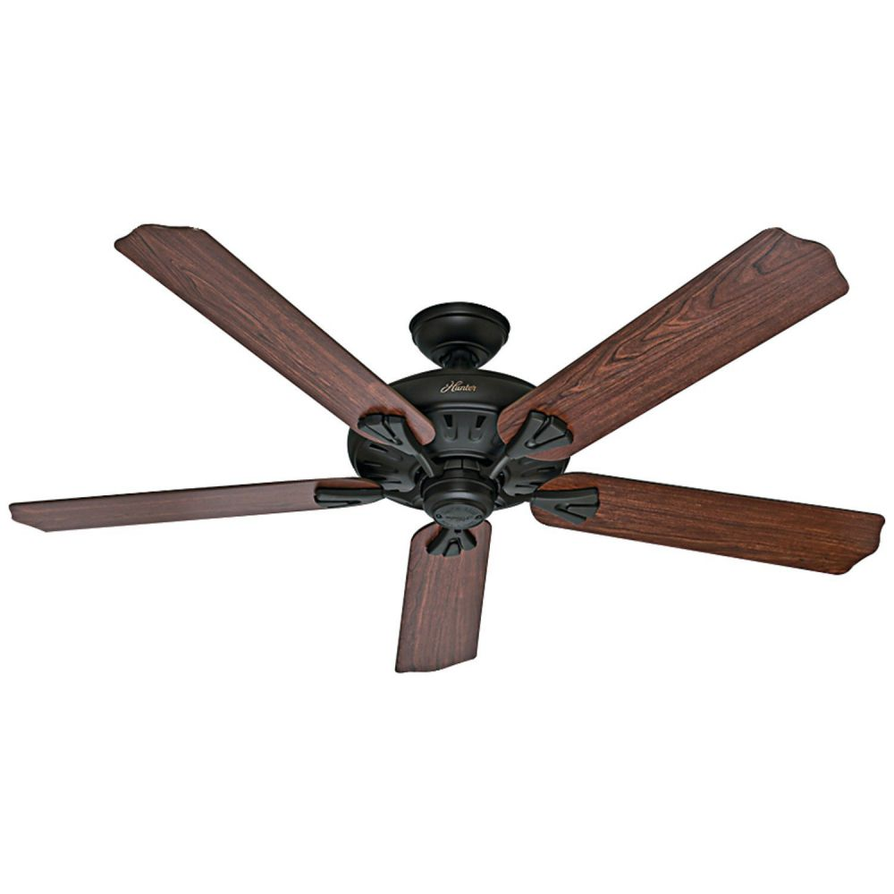 Hunter 54018 The Royal Oak 60-inch New Bronze Ceiling Fan with Five Dark Cherry/Medium Oak Blades