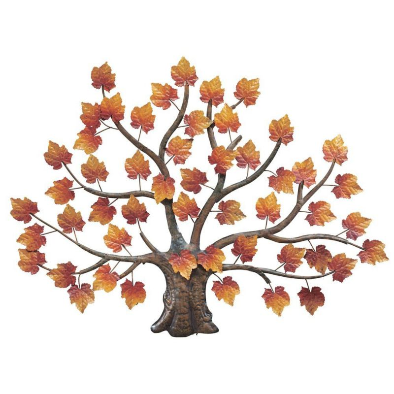 Maple Tree Decorative Metal Wall Art