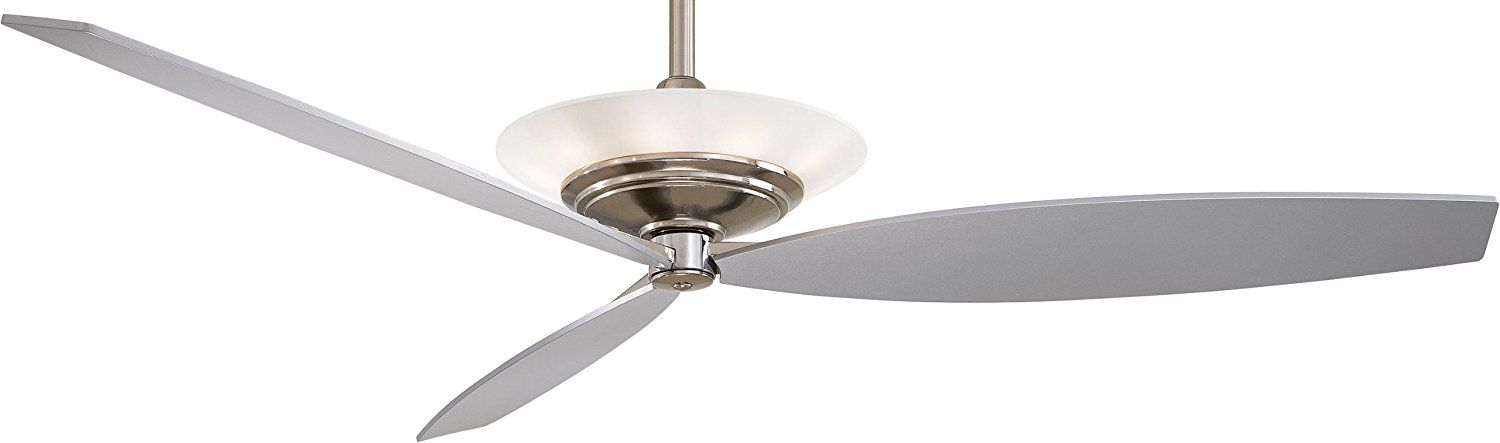 "Minka-Aire F737-BN, Moda, 60"" Ceiling Fan with Remote Control, Brushed Nickel"