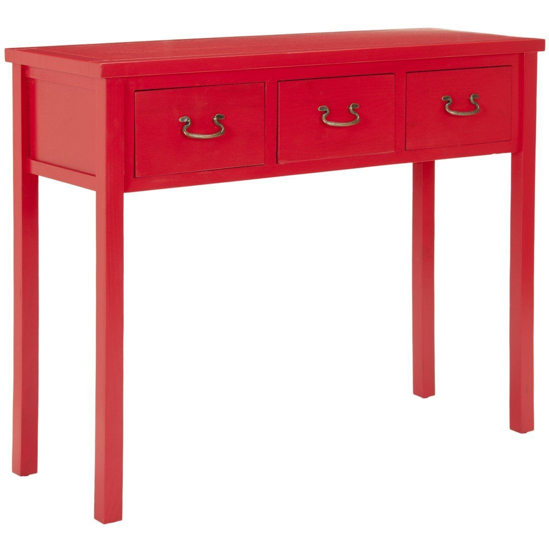 Robinwood 3 Drawer Console Table, American style (Red)