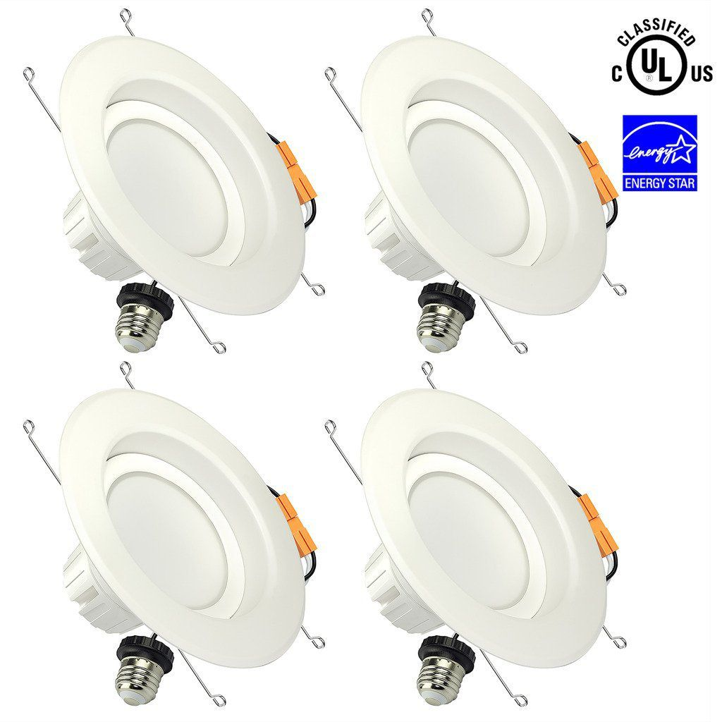SGL 6 Inch Dimmable LED Downlight, Energy Star, UL Listed, 13W (100W Replacement), 5000K Daylight White, 1150 Lm, Retrofit LED Recessed Lighting Fixture, LED Ceiling Light, 4-Pack