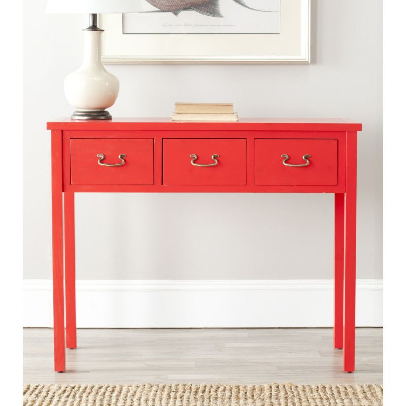Safavieh American Homes Collection Cindy Console Table, Red