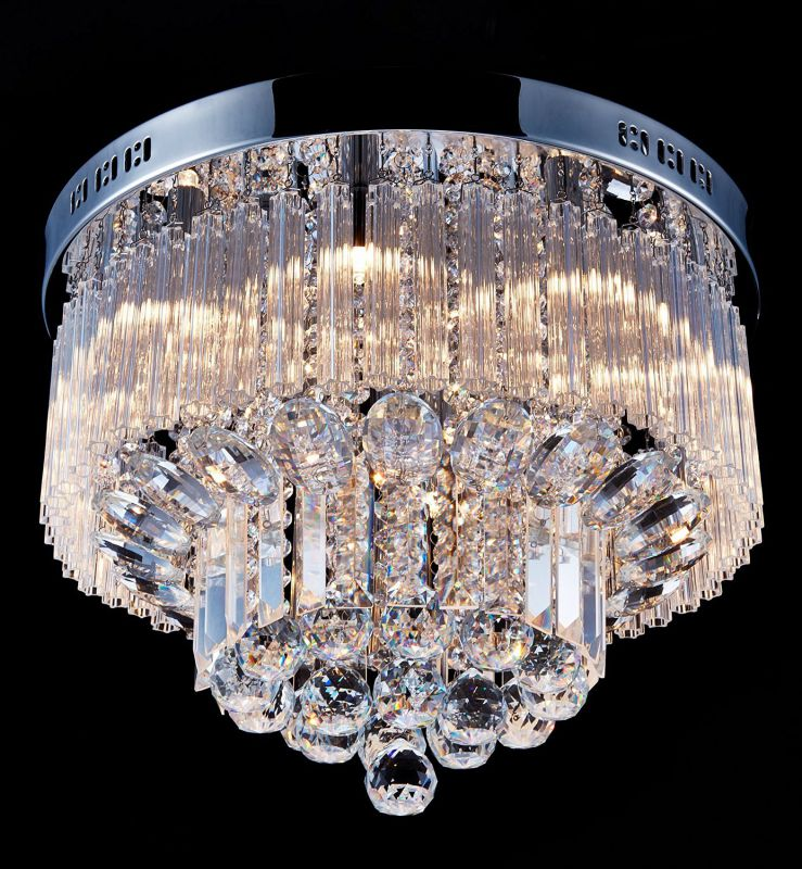 "Saint Mossi Crystal Rain Drop Chandelier Modern & Contemporary Ceiling Pendant Light G9 Bulbs Required H12"" X D18"""