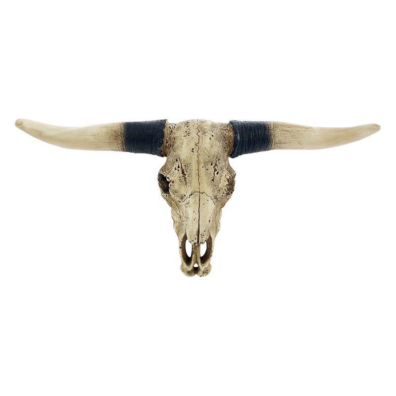 Southwestern Longhorn Skull Steer Head Rustic Bull Wall Hanging Decor Sculpture Replica