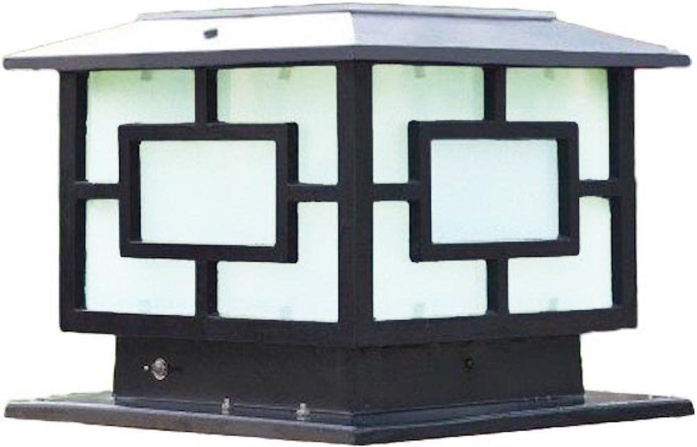 The Very Large Solar Post Cap Lights ( Solar Pillar Lights ) Are 11.8 In X 11.8 In (30CM X 30CM) Solar Powered Post Caps. The Elegantly Designed Solar Light Post Caps (Black)