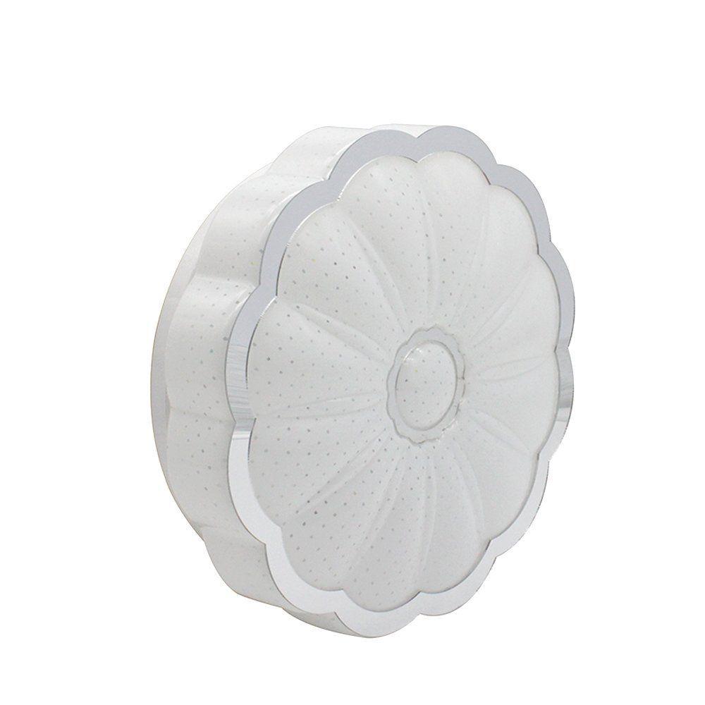 VIPMOON 8W 8-inch Ultra-thin LED Ceiling Lights, White, 60W Incandescent (18W Fluorescent) Bulbs Equivalent, Flush Mount Ceiling Lighting-Flower Shape