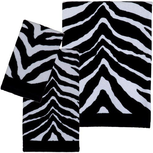Zebra Print 3-piece Towel Set