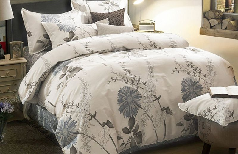 3 Piece Duvet Cover and Pillow Shams Bedding Set, 100% Cotton (King Size)