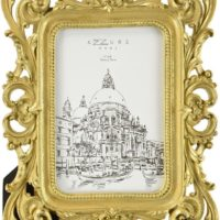 Beautiful 4x6 Gold Resin Decorative Picture Frame