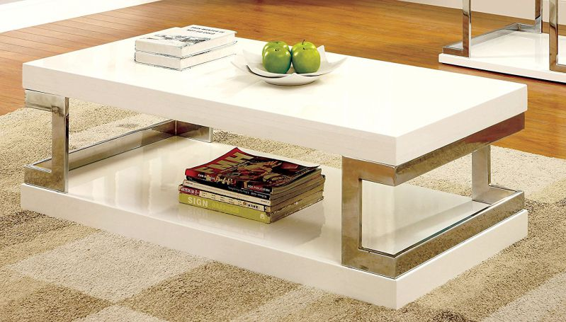 Furniture of America Adina Modern Coffee Table, White