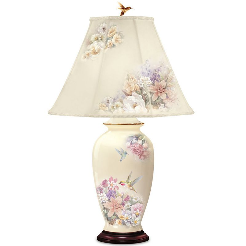 Lena Liu Hummingbird And Floral Garden Ginger Jar Lamp With 22K Gold Accents by The Bradford Exchange