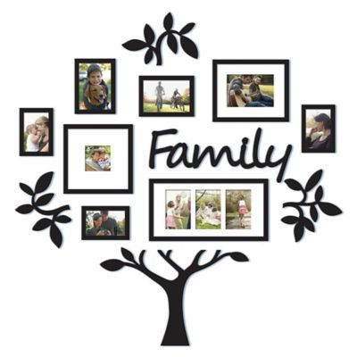 "Wallverbs 13-piece ""family"" Tree Set In Black"