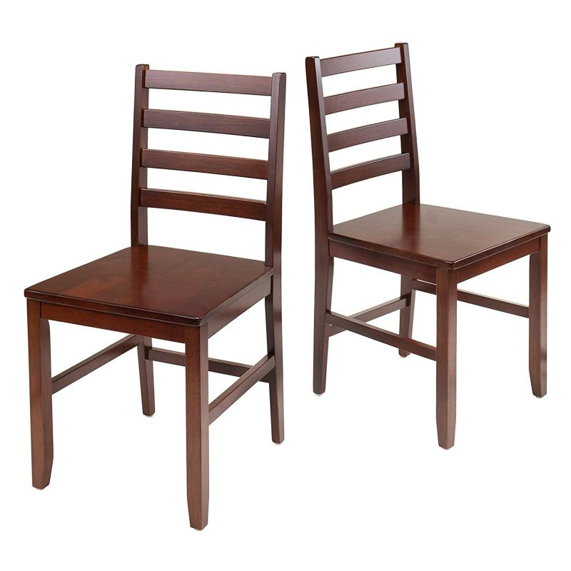 Winsome Wood Hamilton 2-Piece Ladder Back Chair