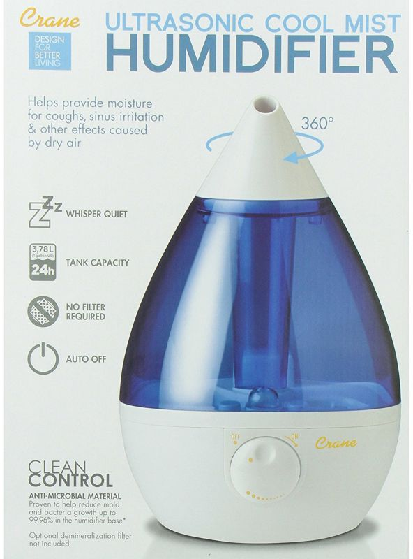 Crane Drop Cool Mist Humidifier Feature