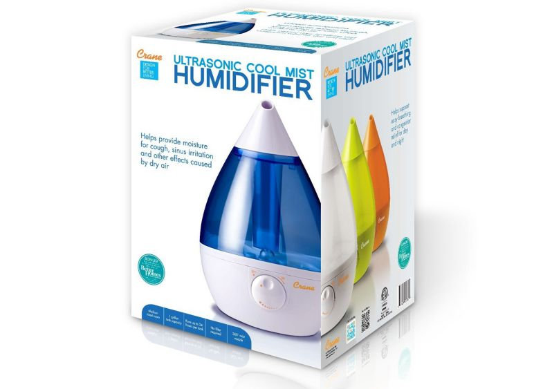 Crane Drop Ultrasonic Cool Mist Humidifier Box