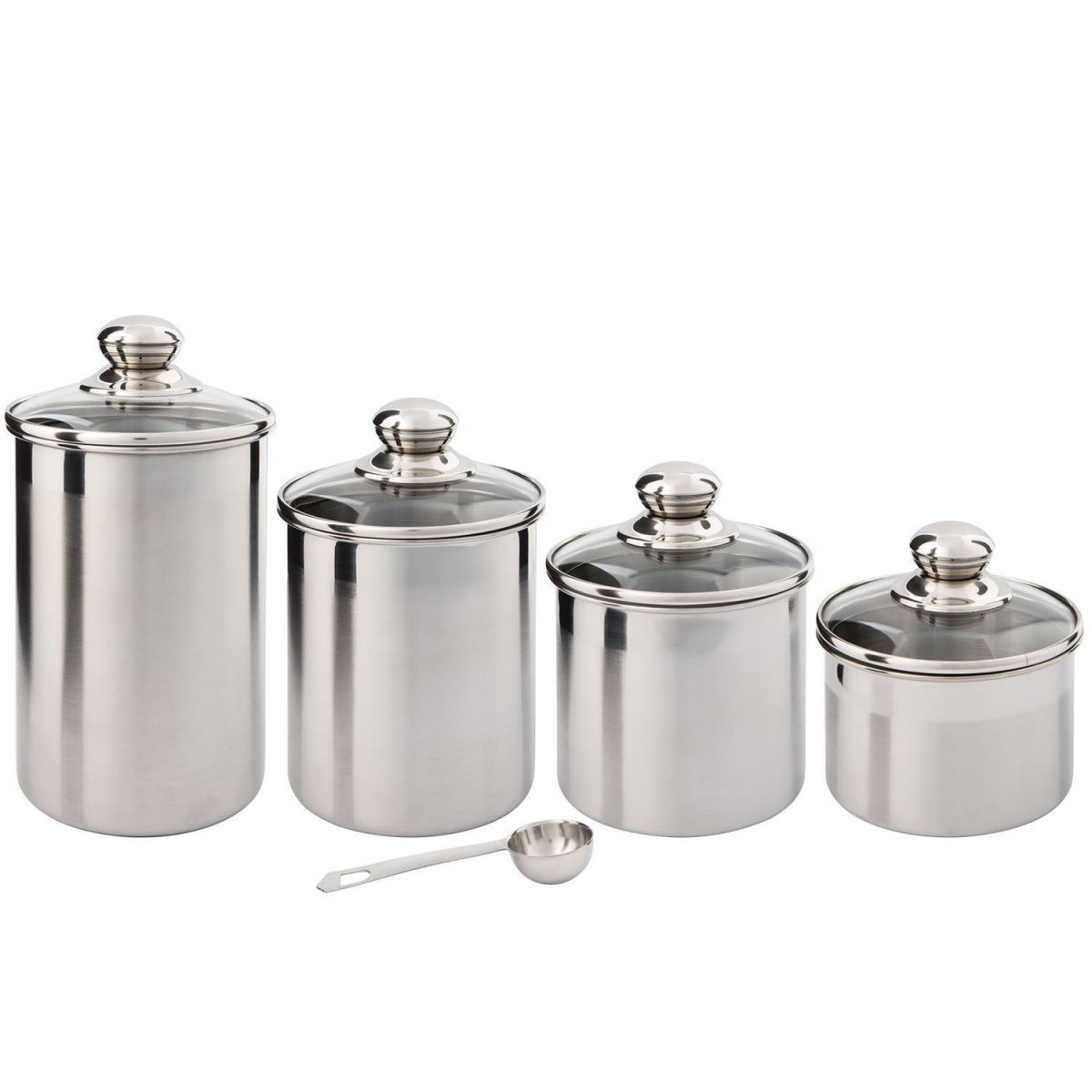 Glass Canister Set For Kitchen Use