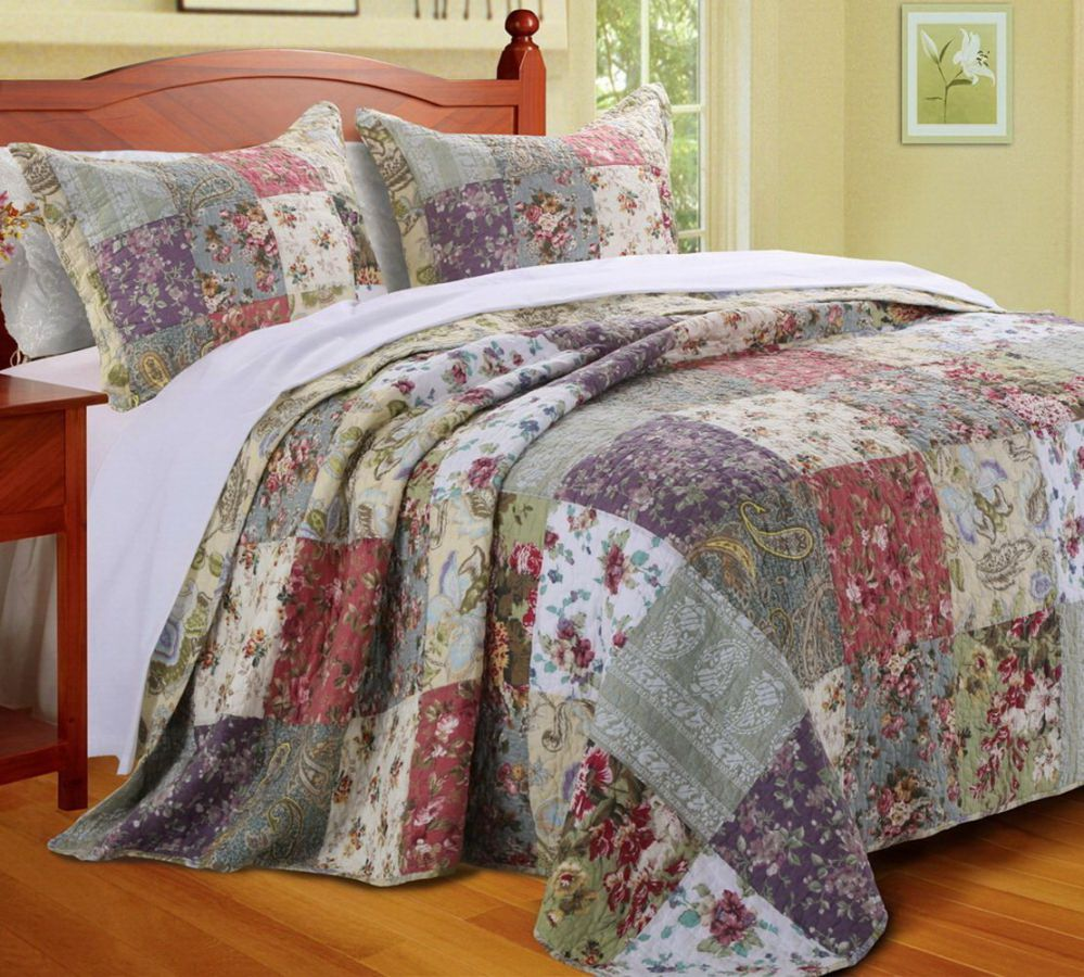 Country Cottage Floral Oversized Bedspread Set