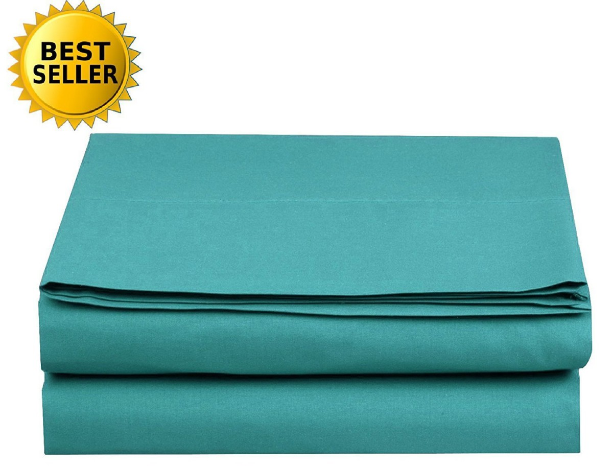 Luxury Flat Sheet Elegant Comfort Wrinkle-Free 1500 Thread Count Egyptian Quality 1-Piece Flat Sheet