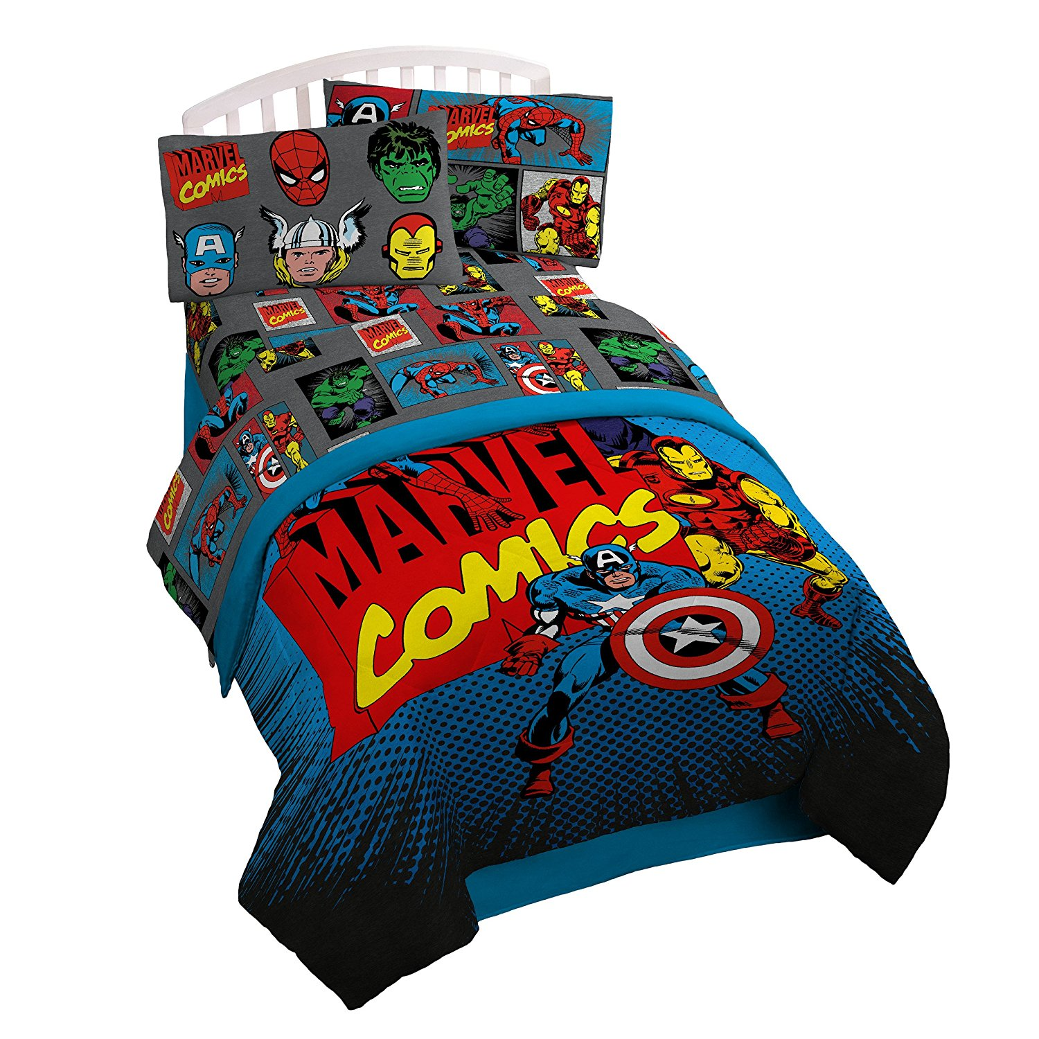 Marvel Superheroes Microfiber 3 Piece Twin Sheet Set