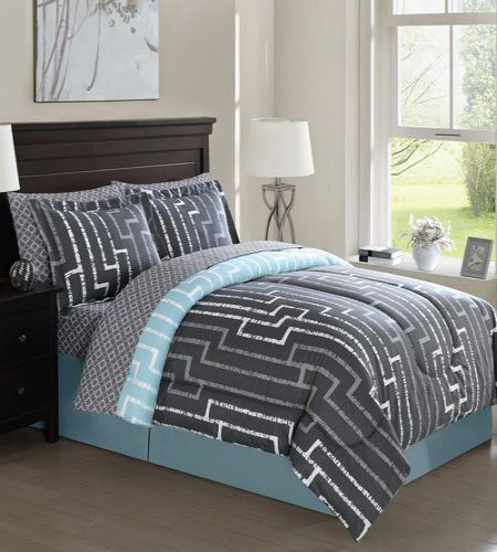 PEM America Brandenburg Geo Queen Bedding Ensemble Set