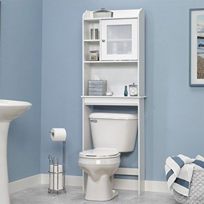 Sauder Caraway Etagere Bath Cabinet, Soft White
